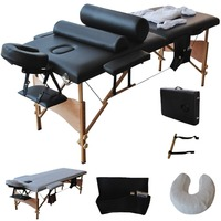 84 L Massage Table Portable Facial SPA Bed W Sheet Cradle Cover 2 Pillows Hanger Free