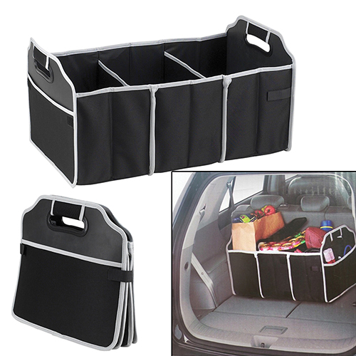 New Arrival Automotive Collapsible Folding Flat Trunk Organizer for Picnic Travel Car SUV 5pcs collapsible non woven fabrics material folding flat storage organizer for car