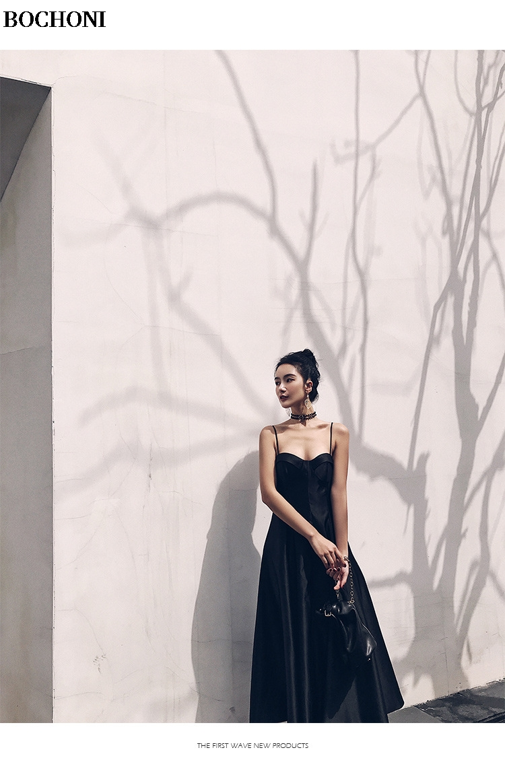 2018 Bochoni новый слинг сексуальные тонкий похудения простое платье сексуальное платье ночи Вечерние