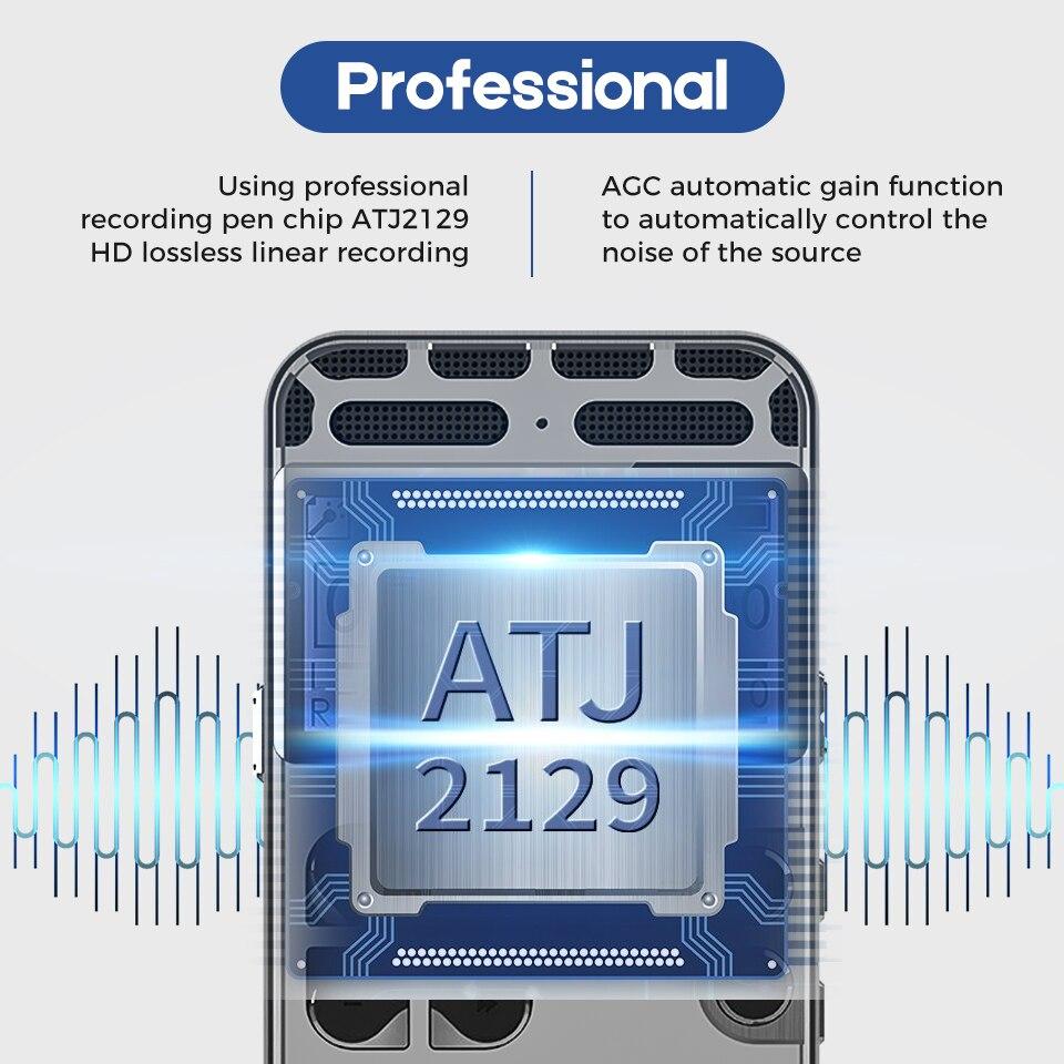 Enregistreur vocal numérique caché Dictaphone registraire MP3 HIFI stéréo 1536KPS enregistrement WAV réduction du bruit activé par la voix V35 - 3