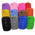 Silicone Key Case For VW Polo Passat B5 Golf 4 5 6 Jetta Mk6 Tiguan Golf CrossFox Plus Eos Scirocco Beetles Car Key Cover
