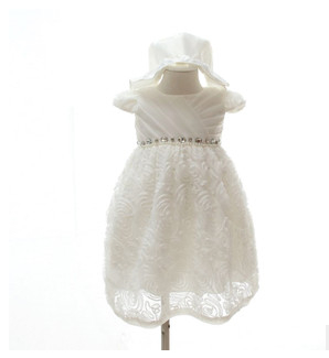 Baby Girls Dress Hat Suit Ivory Red Princess Vestido Infantil for 0 2T Christmas Birthday Party
