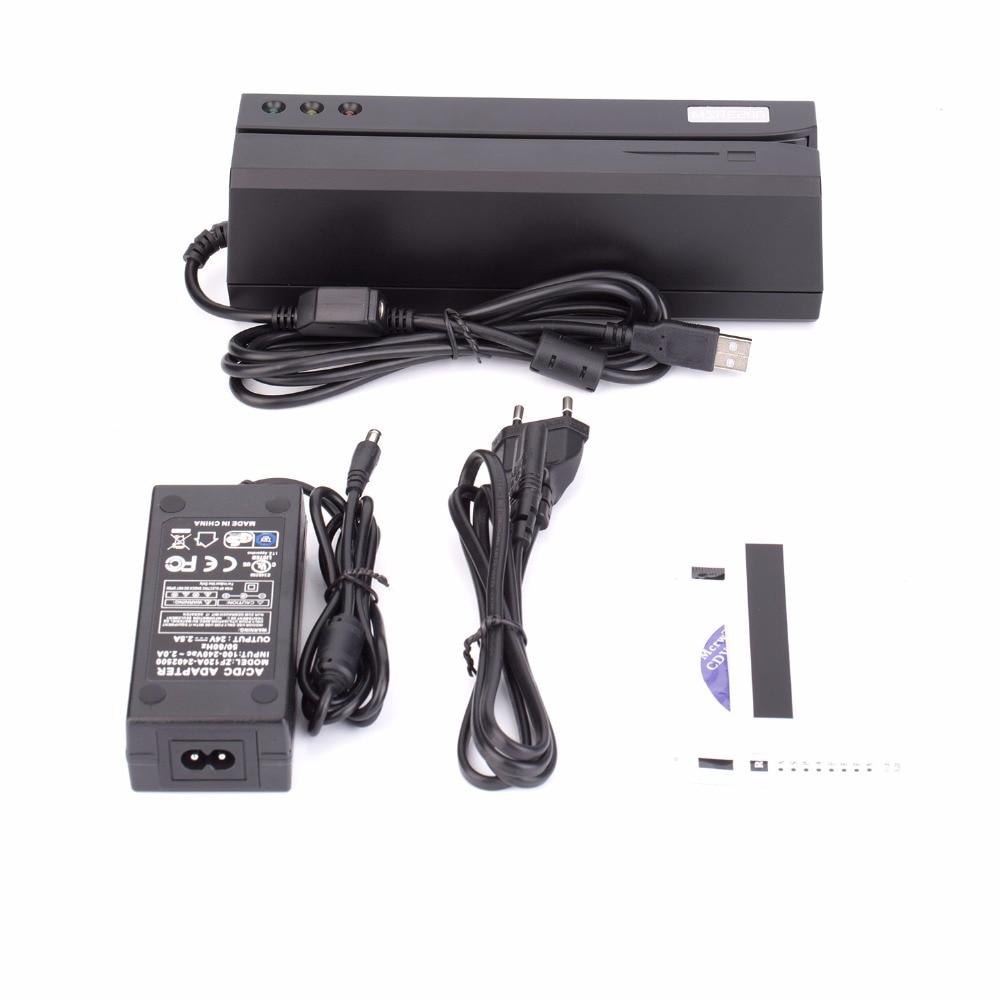 Msre206 lecteur de carte usb interface noir vs msr606/msr605