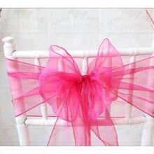 60 Цвет-1/3 18x275 см 100 шт органзы стул, с поясом, с бантом, чехол для стула, платье с лентой на поясе, свадеб и вечерние банкетные рождественские украшения