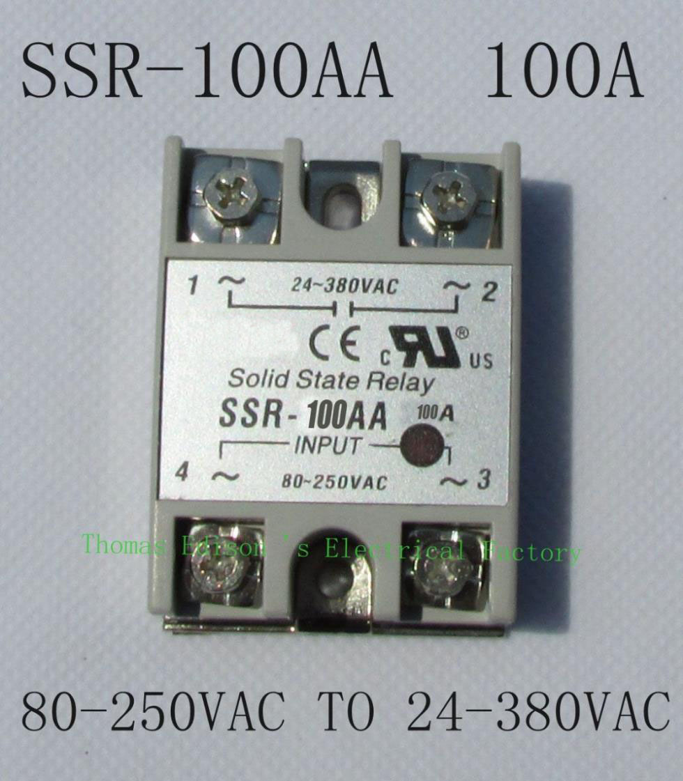 TOP BRAND DMWD solid state relay SSR-100AA 100A 80-250V AC TO 24-380V AC SSR 100AA relay solid state high quality ac ac 80 250v 24 380v 60a 4 screw terminal 1 phase solid state relay w heatsink