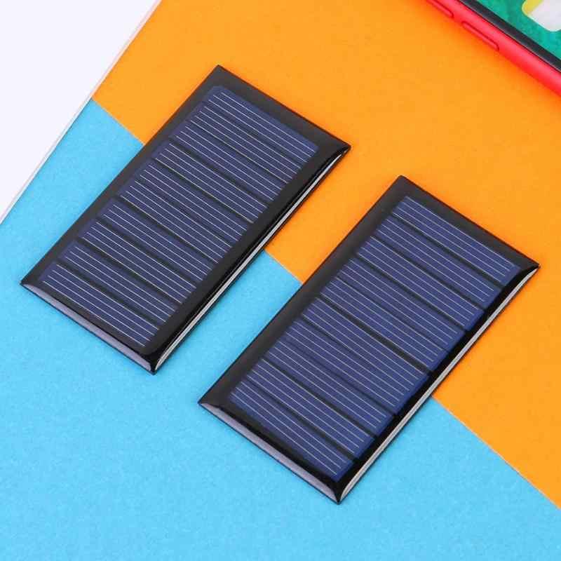 0.3 واط 5 فولت 60mA لوحة طاقة شمسية ألواح خلايا شمسية متعددة البلورات لبطارية 3.6 فولت للأجهزة منخفضة الطاقة 68*37*3 مللي متر