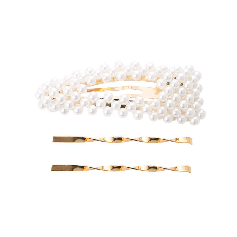 Yobest 3Pcs/Set Pearl Metal Hair Clip Hairband Comb Bobby Pin Barrette Hairpin Headdress Accessories Beauty Styling Tools