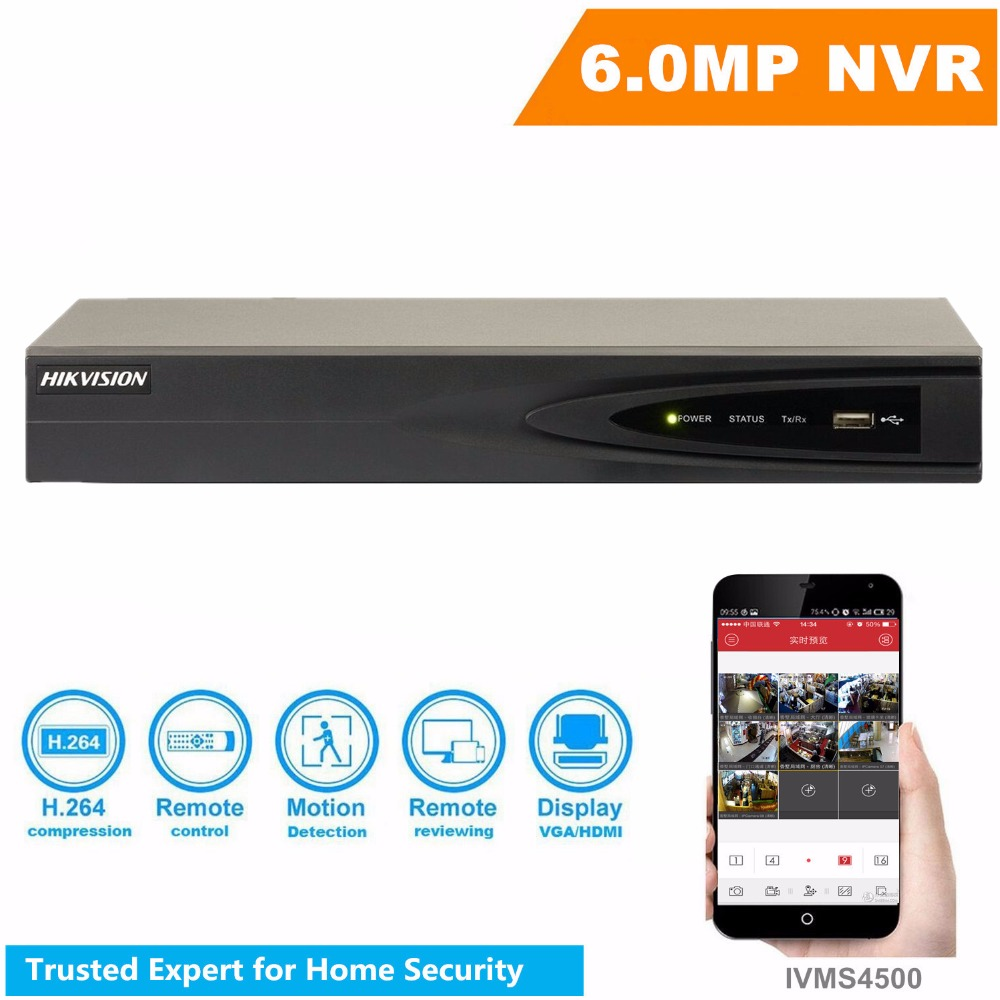 Neutral Version NVR DS 7604NI E1 4P 4CH POE Support 5MP IP Camera Independent Embedded NVR