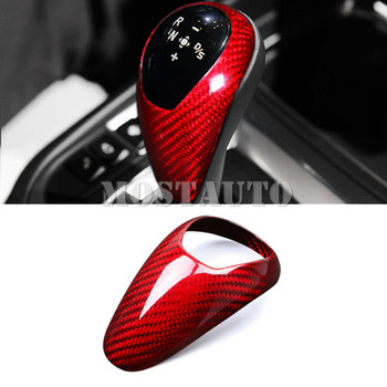 For BMW X5 M X6 M F85 F86 Carbon Fiber Console Gear Shift Knob Cover 2015-2018 1pcs Red/Black
