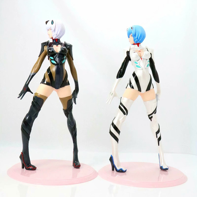 Black / White Version Evangelion Ayanami Action Figure EVA Ayanami Rei PVC figure Kids Toy Gifts no retail box (Chinese Version)