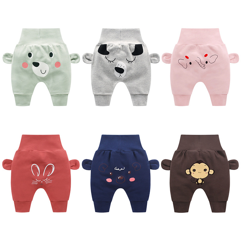 Baby Clothes Casual Toddler Baby Boy Girl Animal Trousers Bottoms Pants Infant Cartoon Harem Pants(China)