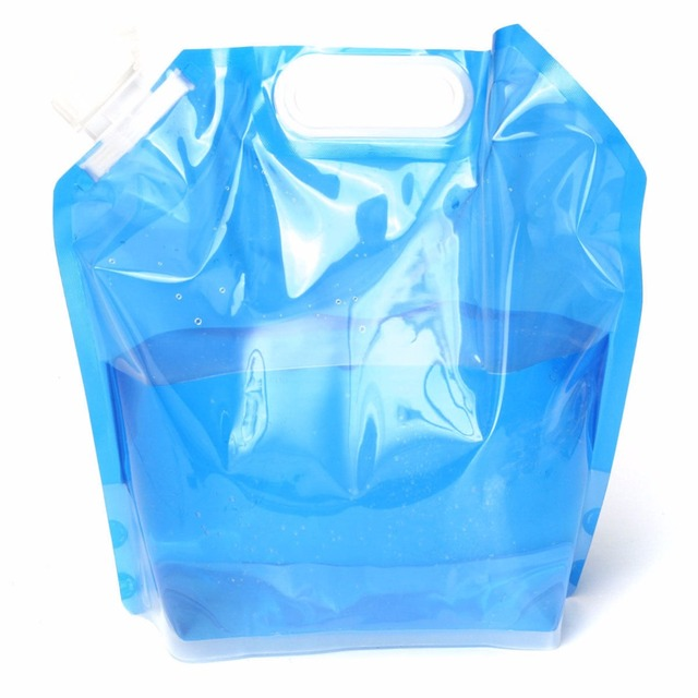 5L Folding Drinking Water Bag Portable Water Container Lifting Bag Outdoor Camping Hiking Survival Water Storage Bag Cantimplora
