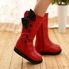 Новая зимняя девушки slipproof непромокаемую обувь снегоступы ребенков зимняя обувь детская сапоги детские