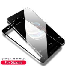 Купить с кэшбэком 9H 2.5D Full Tempered Glass for Xiaomi mi 5 5s Plus 5X 6 Xiomi Xaomi Redmi 4 Pro Prime 4A Note 4 X 4X Glass Screen Protectors