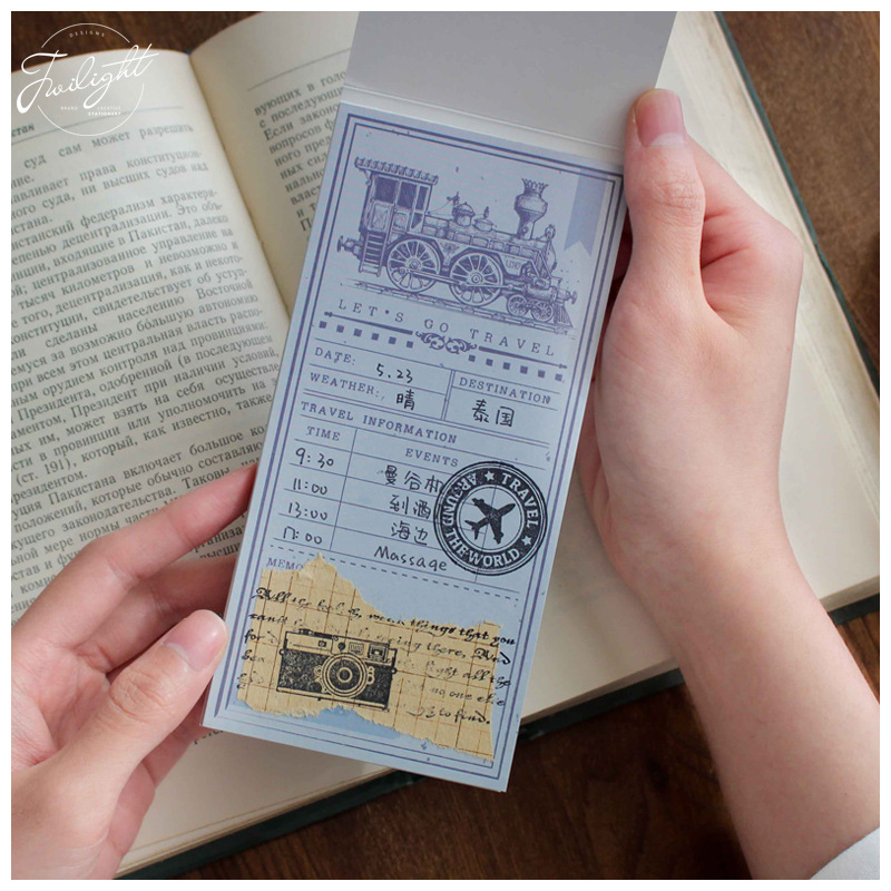 Travel Project Plan Life Memo Pad Sticky Notes Bookmark School Office Supply 2018 pet transparent sticky notes and memo pad self adhesiv memo pad colored post sticker papelaria office school supplies