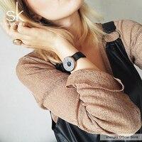 Shengke Brand Luxury Women Watches High Quality Black Mesh Belt Girls Creative Wristwatch Female Dress Clocks