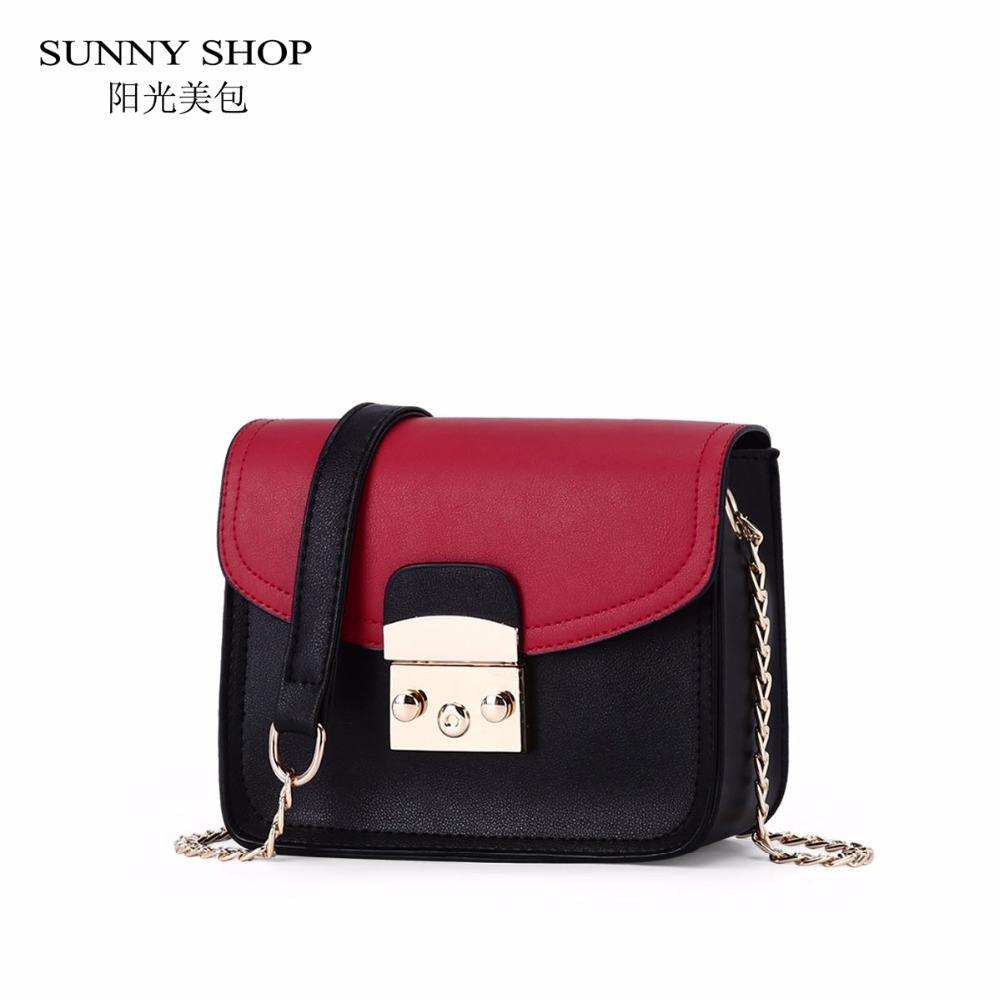 SUNNY SHOP Fashion Chain Mini Bag Chain Women Messenger Bag Candy Color Purse And Handbags Brand Designer Cross Shoulder Bag