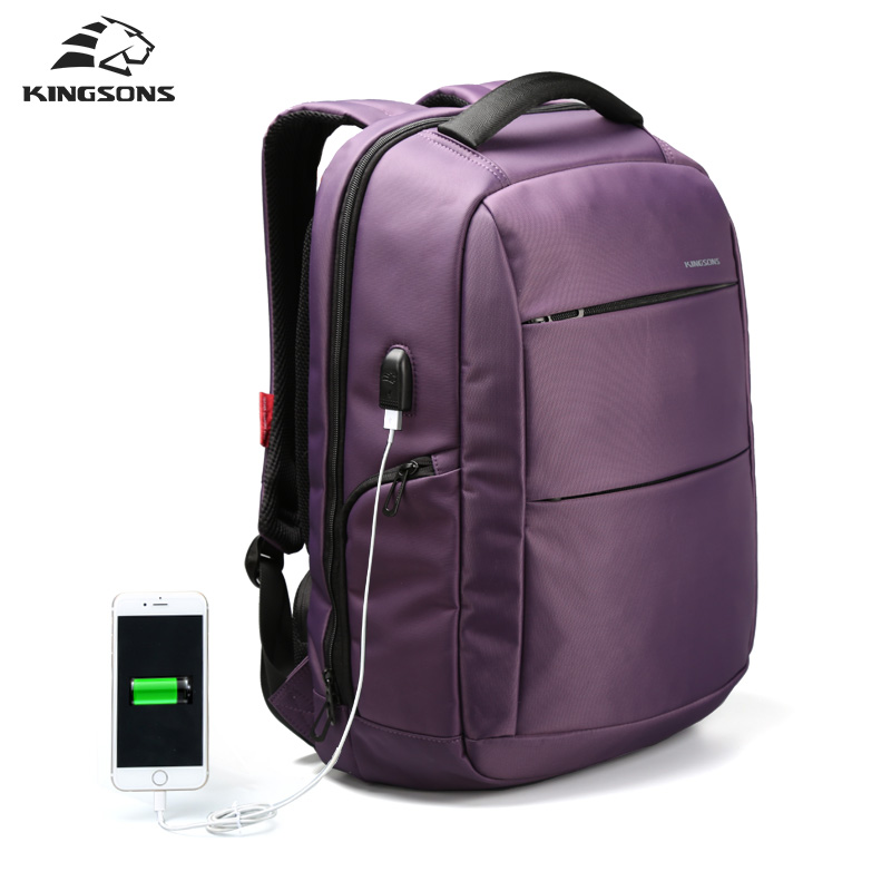 Kingsons External Charging USB Function 15.6 inch Laptop Backpack for Women Anti-theft Men Business Dayback Travel Bag kingsons external charging usb function school backpack anti theft boy s girl s dayback women travel bag 15 6 inch 2017 new