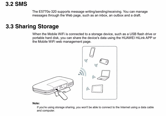 Huawei E5770 Mobile Wifi Pro Router Mit Rj45 4g Lte Fdd800 850 900