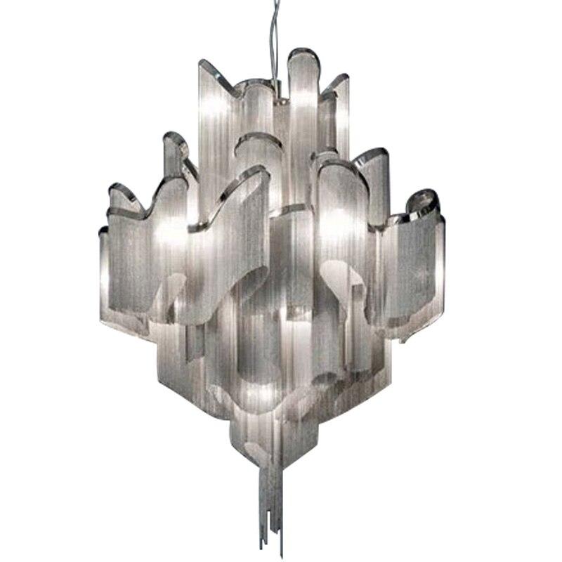 Retro Loft Olaszország címer alumínium lánccsillár Art Deco - Beltéri világítás