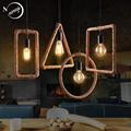 Винтажная креативная Геометрическая Подвесная лампа iorn, светодиодная Подвесная лампа 220 В для гостиной, спальни, прихожей, кухни, кафе
