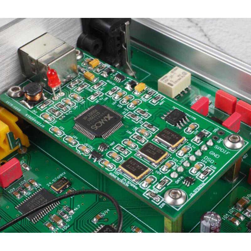 ES9038Q2M Bluetooth 5.0 オーディオデコーダステレオ CSR8675 APTX HD XMOS-208 USB DAC デコーダステレオ DSD512 とヘッドホンジャック