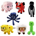 7CS/Lot Minecraft Dolls High Quality Minecraft Plush Toys Minecraft Creeper Toys Very Cute Doll For Children Gift Free Shipping