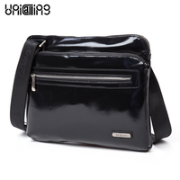 Horizontal Men Leather Business Bags Authentic Dan Jue Fashion Leisure Package Cross Section Slim Leather Messenger