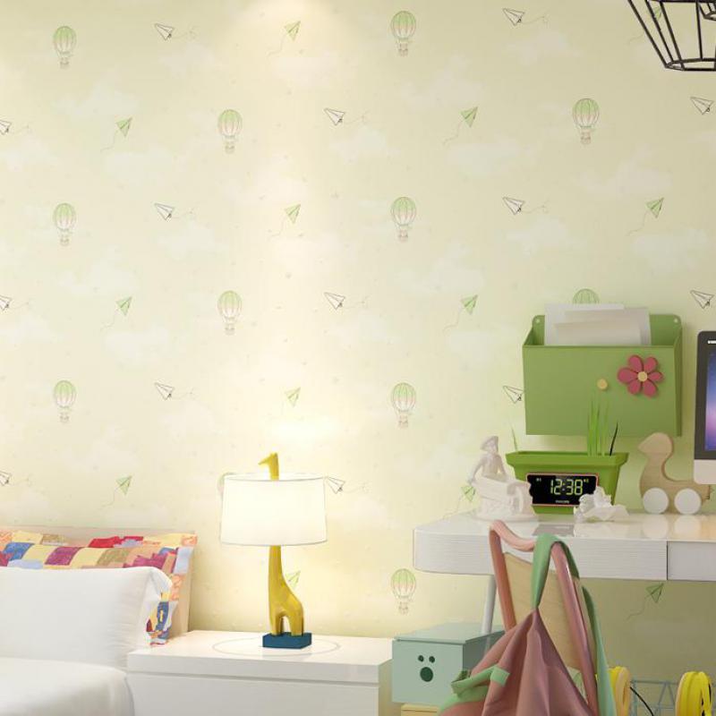 Modern Children Room Wallpaper Hot Air Balloon Cartoon Wallpaper 3d Kids Room Background Wallpaper Soundproof Wallpaper Stone