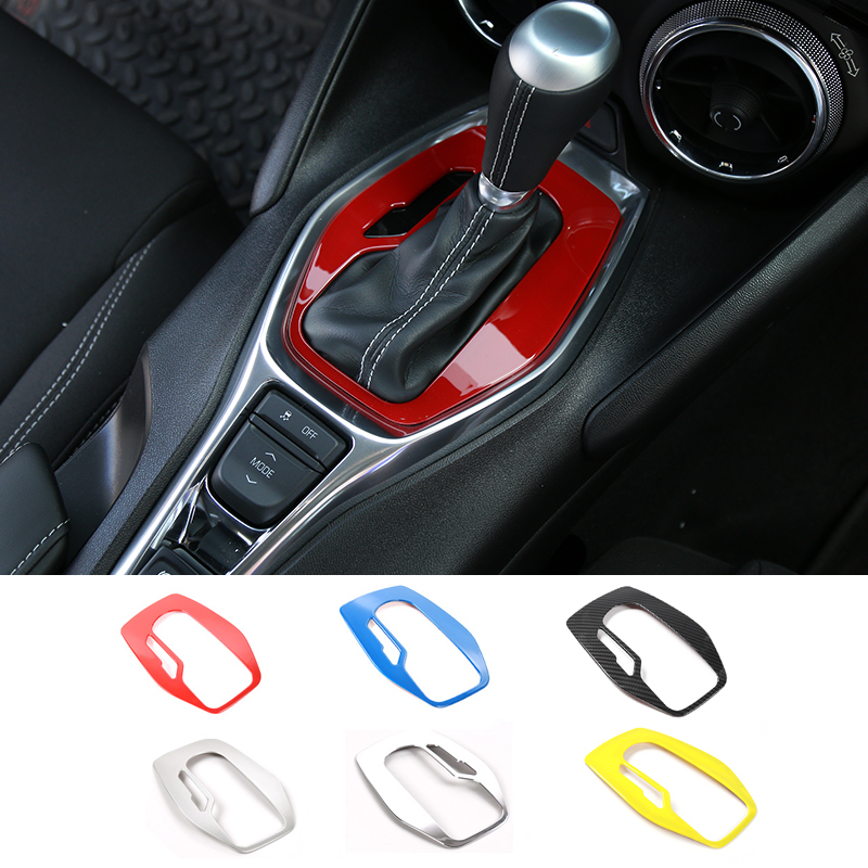 MOPAI ABS Car Interior Gear Shift Panel Frame Cover Decoration Stickers Trim Fit For Chevrolet Camaro 2017 Up Car Styling mopai abs car interior gps panel frame