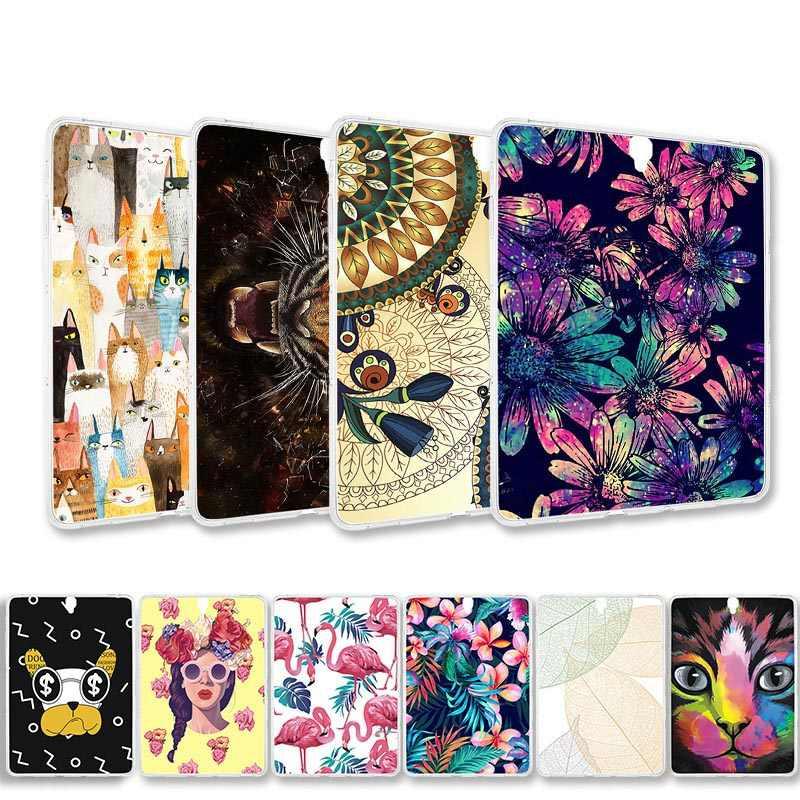 Dicat Tablet Silikon Kasus untuk Samsung Galaxy Tab S5E 2019 Case Cover Samsung Tab E 8.0 9.6 S2 9.7 S3 s4 10.5 Lembut TPU Tas