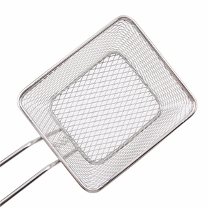 Image 5 - Portable Stainless Steel Chips Mini Frying Basket Strainer Fryer Kitchen Cooking Chef Basket Colander Tool French Fries Basket