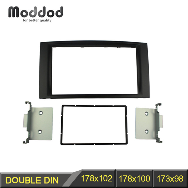 Double Din Fascia For Volkswagen Touareg T5 Multivan Transporter Radio DVD Stereo Panel Dash Mount Install Trim Kit Refit Frame