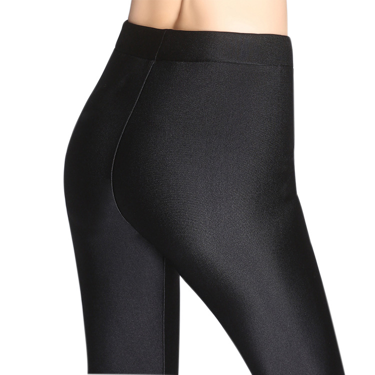 e7eec308b8435 Fashion Autumn Spring Winter Thick Sheen Warm Lustrous Leggings Ankle  Length Pants High Elastic Thermal Pants Stretch Pants-in Leggings from  Women's ...