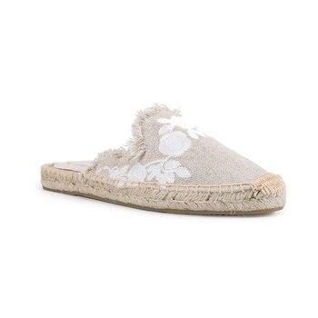 Pantufa Women Shoes Tienda Soludos Slippers Cotton Fabric Sale Promotion Hemp Rubber Summer Slides Zapatos De Mujer Floral 5
