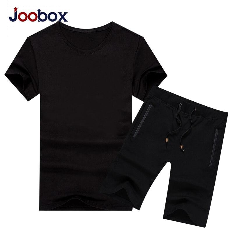 JOOBOX Summer Sporting Suit Short Sleeve For Men Men's Short Sleeve T-shirt Top + Shorts