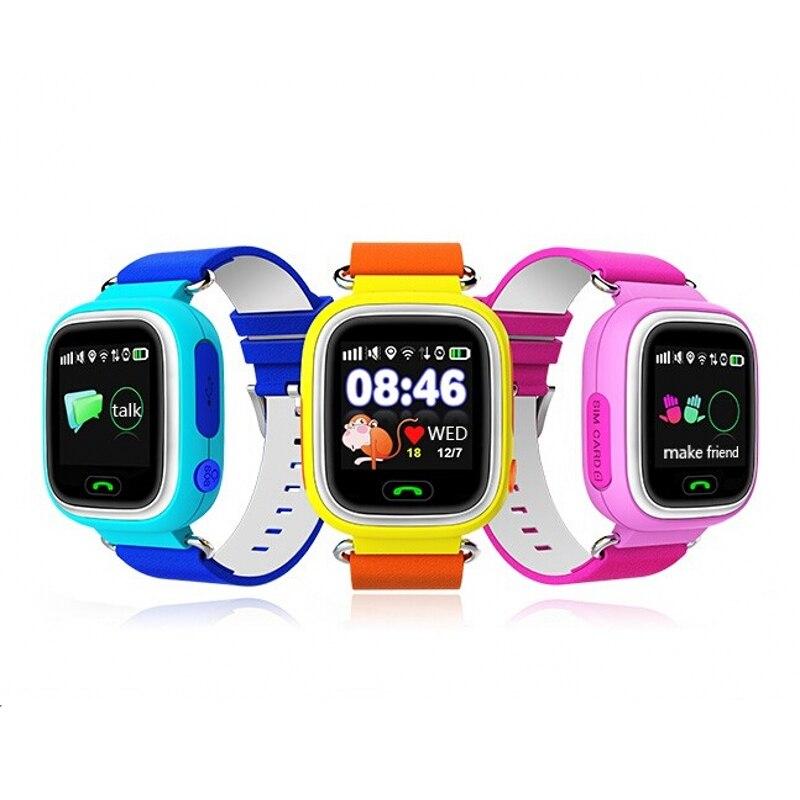 Q90 pantalla táctil wifi smart watch niños sos de llamada dispositivo localizado