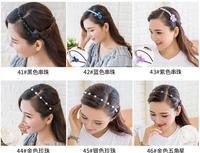 аксессуары для волос южная корея тонких волос золотой двухрядные дрель