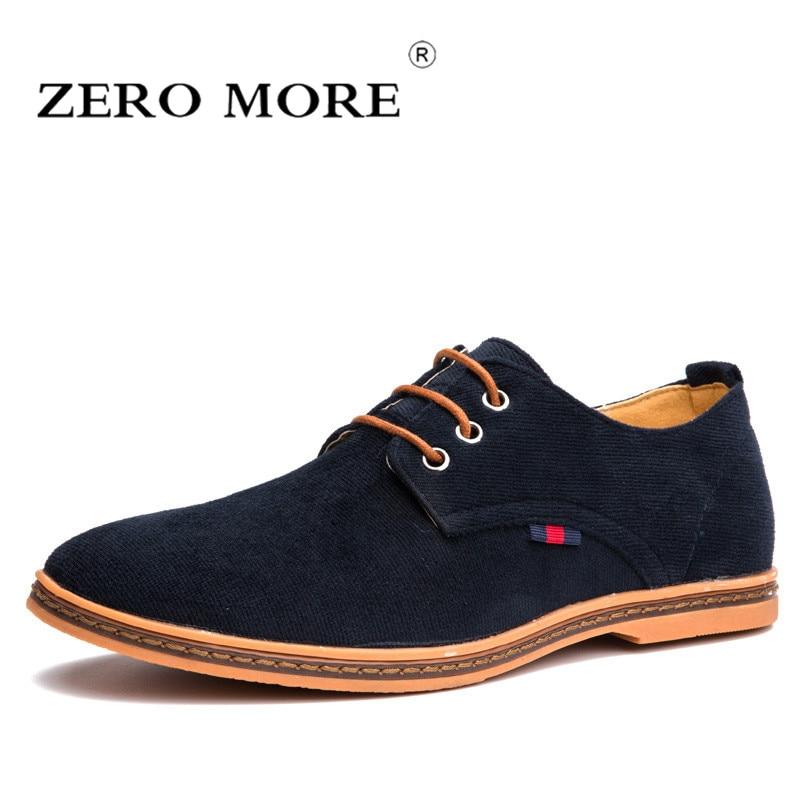 Zeromore noir chaussures hommes décontractées grande taille velours côtelé à lacets britannique respirant hommes chaussures décontractées noir Dredd offre spéciale jaune
