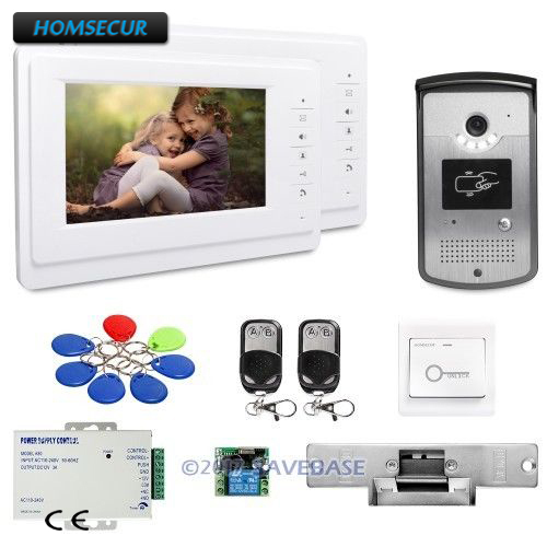 HOMSECUR 7inch Hands-free Video Door Phone Intercom System with Keyfobs Unlocking CameraHOMSECUR 7inch Hands-free Video Door Phone Intercom System with Keyfobs Unlocking Camera