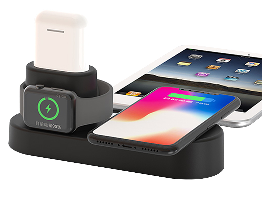 Ascromy Fast Wireless Charger Pad Dock Station For iPhone XS Max XR X 8 Plus 10 Apple Watch 3 2 Induction Charging Stand AirPods (3)