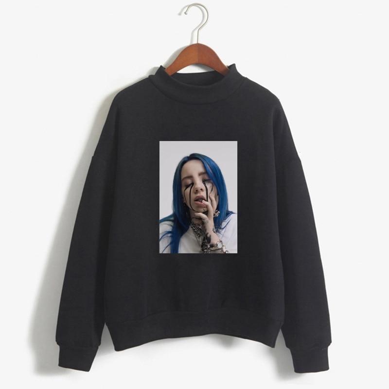 2019 New women Hoodie Streetwear Hip Hop billie eilish Hoodies women Vogue bts Sweatshirt Red Black Gray Pink white Pullover bts AG2R La Mondiale 2019