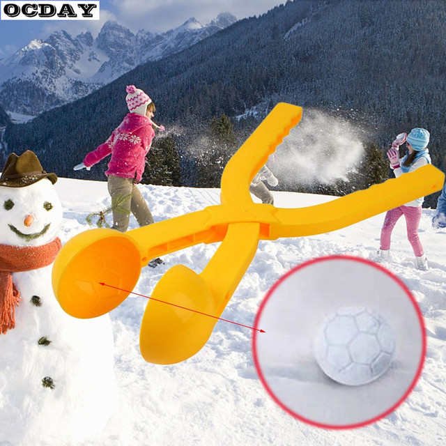1PC Winter SnowBall Maker Sand Mold Tool Kids Toy Snow Scoop Maker Snow ball Clamp Clip Outdoor Sports for Children Toys Random