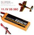 35c 3 s 11.1 v 2200 mah batería del avión modelo drone aire modelo de avión de aeromodelismo de la batería de la batería de polímero de litio