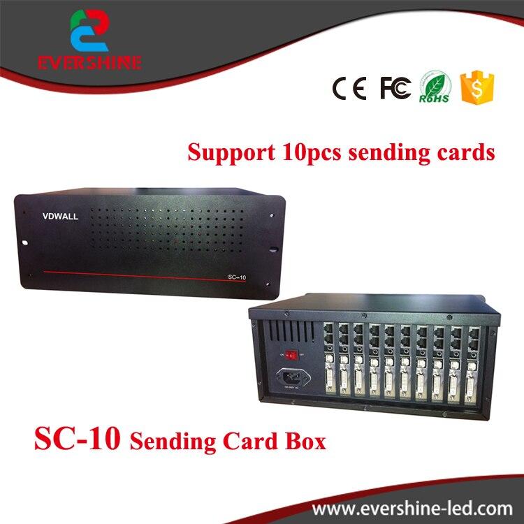 VDWALL SC-10 sender card box uesed in LVP40X serial LED HD processor wavelets processor