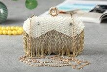 Hot Luxus Damen Gold Clutch Mode Frauen Quaste Strass Abendtasche Designer Braut Hochzeit Tasche SMYCYX-A0084