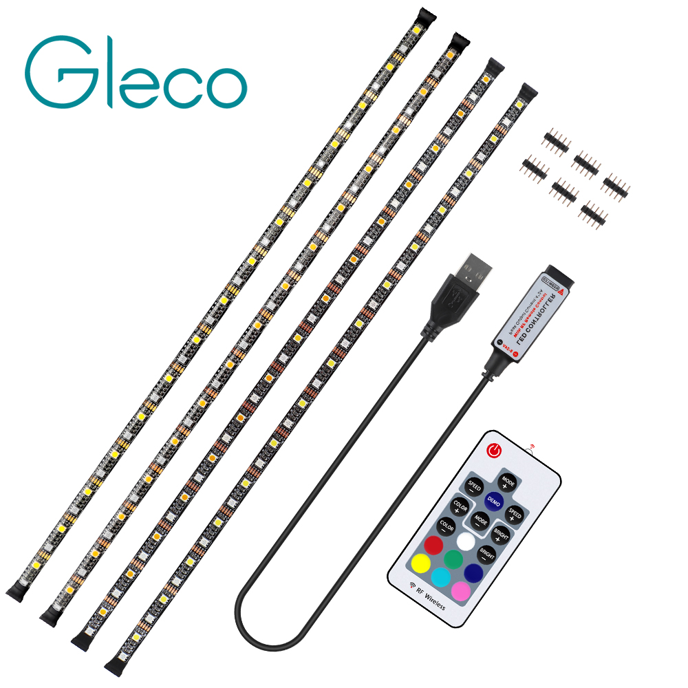 New USB LED Strip 5050 RGBW RGBWW With Controller Flexible Strip BackLight For TV Background Bias Lighting 50CM 1M 2M 3M 4M 5M