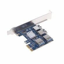 Pci-e для pci-e адаптер 1 оборот 4 Слот pci-e от одного до четырех USB 3.0 добыча специальный Riser Card