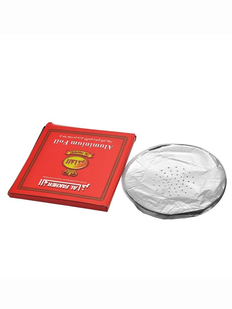 Cournot 50pcs/lot 0.02mm Aluminum Round Perforated Shisha Hookah Foil Paper Shisha Foil Hookah Foil Papers Hose Hookah Bowl