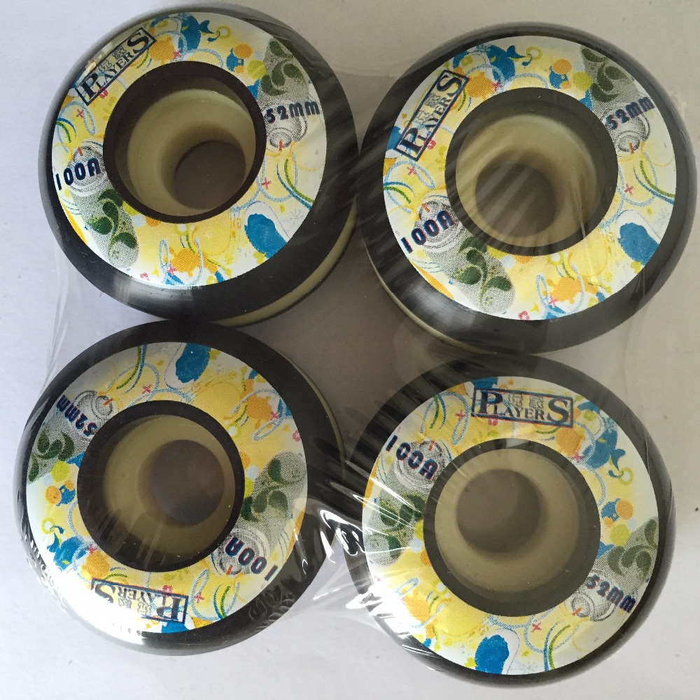 4pcs /Set High Quality Professional Skateboard Wheels 51 52 53mm 101A PU Skating Wheels For Double Rockers